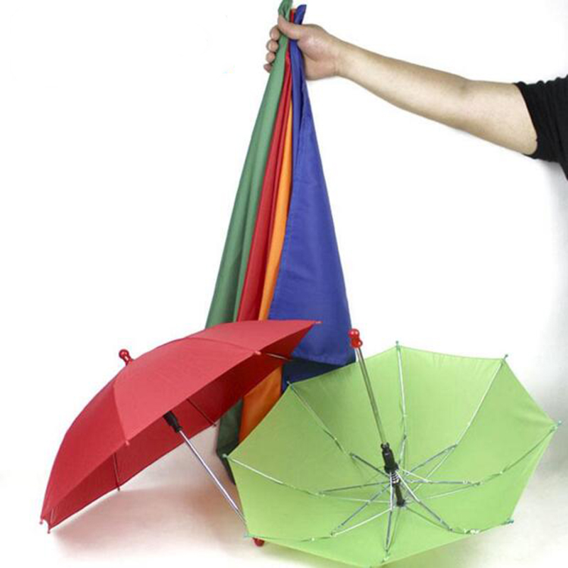 1set New arrival Silk to four umbrellas Magic trick magic street Stage Funny Party Magic Accessory 83105 four color silk scarf excellent stage magic prop