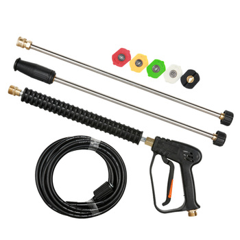 1Set Car High Pressure Washer-Gun 5M Wash Hose Tube Power Water Jet Washer With 5 Spray Nozzle For Cleaner Watering Lawn Garde