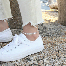 No Fade 925 Silver Bohemian Beads Fashion Ankle Bracelet for Women Leg Chain Round Tassel Anklet