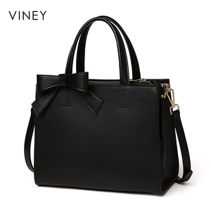 Image 2 - Viney Handbag Female 2019 New Red Small Black Bag Simple Leather Tide Leisure One Shoulder Slant Bag