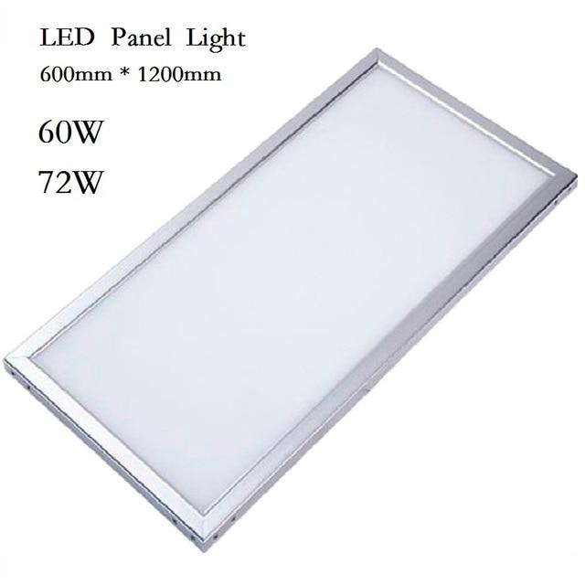 new style 0c1da eeee5 US $149.0 |LED Panel Licht Downlight 600x600 38 Watt 48 Watt Platz Lampada  600x1200 60 watt 72 watt LED Lampe Decke Innenbeleuchtung 85 265 V DHL ...