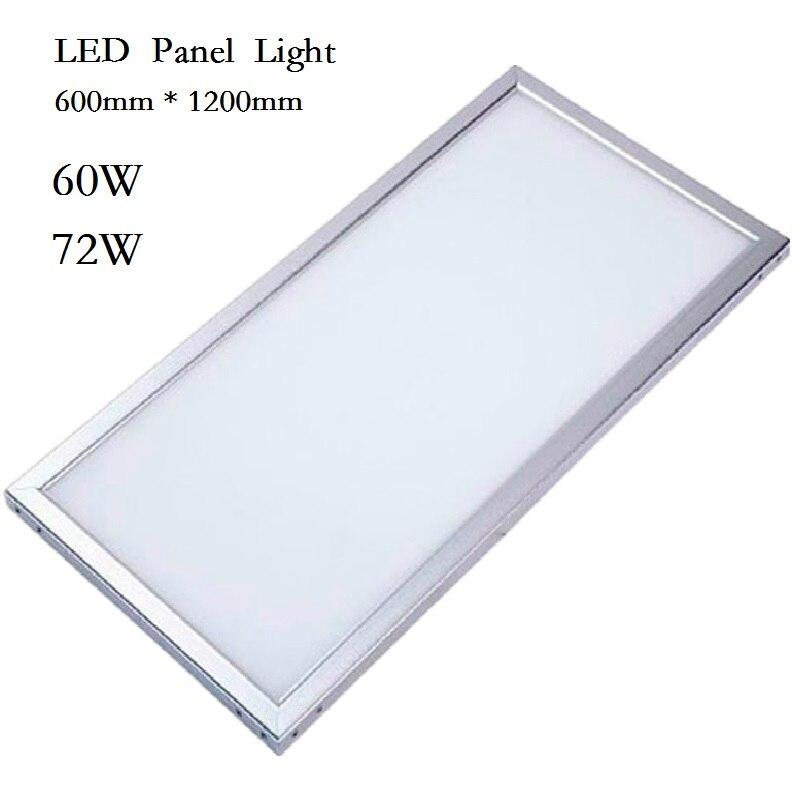 ФОТО LED Panel Light Downlight 600x600 38W 48W Square Lampada 600x1200 60w 72w LED Lamp Ceiling Indoor Lighting 85-265V DHL shipping
