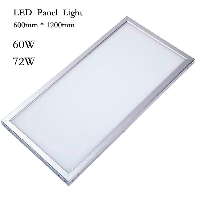 LED Panel Light Downlight 600x600 38W 48W Square Lampada 600x1200 60w 72w LED Lamp Ceiling Indoor Lighting 85-265V DHL shipping