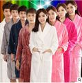 Os Amantes do Velo Coral Roupão de banho Feminina 9 Cores Vestido de Noite Spa Roupão Unisex Mulheres Roupão de Banho Quimono de Manga Longa Das Mulheres vestidos