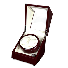 Luxury Wooden Red Paint 2 slot 5 Modes Automatic Watch Winder