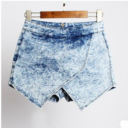 2017 New Arrival Women Summer High Waist Shorts Casual Jeans Shorts Sexy Large Size Female Denim Cowboy Short Size 32/44 K228