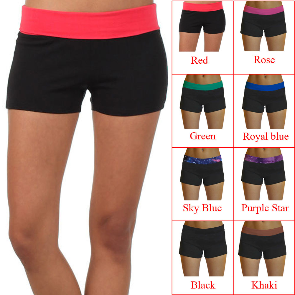 2019 new Yoga Shorts Sexy Women Summer Sport Shorts Women Elastic Waist Short  Shorts Binding Side Split Cotton Sports Running -in Yoga Shorts from Sports  ... a7f0481f6ff7