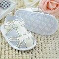 2017 0-18 m del bebé del cabrito blanco inferior suave antideslizante zapatos de algodón prewalker venta caliente
