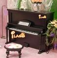 1/12 Dollhouse Miniature Instrument Piano W/ Stool Black Dollhouse Miniature Music Wood Studio HE005G