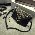 Subergar 2016 Women Vintage Envelope Lady Handbag PU Envelope Bag Womens Day Clutch Elegant women handbags rivets shoulder bag