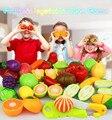 Fingir Jogar Brinquedos Casa de corte de frutas brinquedos 24 pçs/set cozinha jogar Make-acredito que jogos de alta simulação de vegetais de frutas