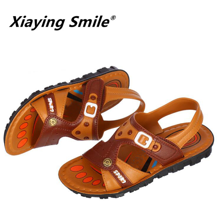 New Style Boys Sandals Children Shoes Kid Flat shoes Summer Fashion Casual Loop Comfortable Leather Rivet Rubber Sole Shoes