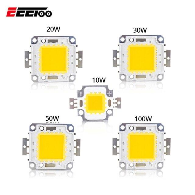 LED אור מטריקס COB משולב LED מנורת שבב 3 w 10 w 20 w 30 w 50 w 100 w DC 10-32 v לdiy זרקור חיצוני זרקור הארה