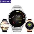 Femperna kw18 smart watch bluetooth monitor de ritmo cardíaco reloj de pulsera para apple samsung htc huawei xiaomi smartphones android