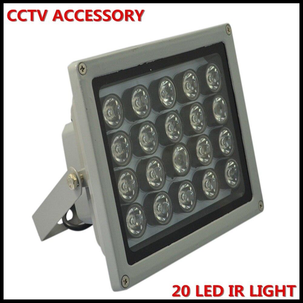1 pièces 20 haute puissance IR LED illuminateur extérieur sécurité éclairage CCTV IR infrarouge nuit vision lampe pour surveillance CCTV caméra