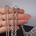 "16""-40"" Customize Size Women Mens Silver Rolo Chain 316L Stainless Steel Oval Chain Jewelry 2/3/4/5mm Xmas Gift"
