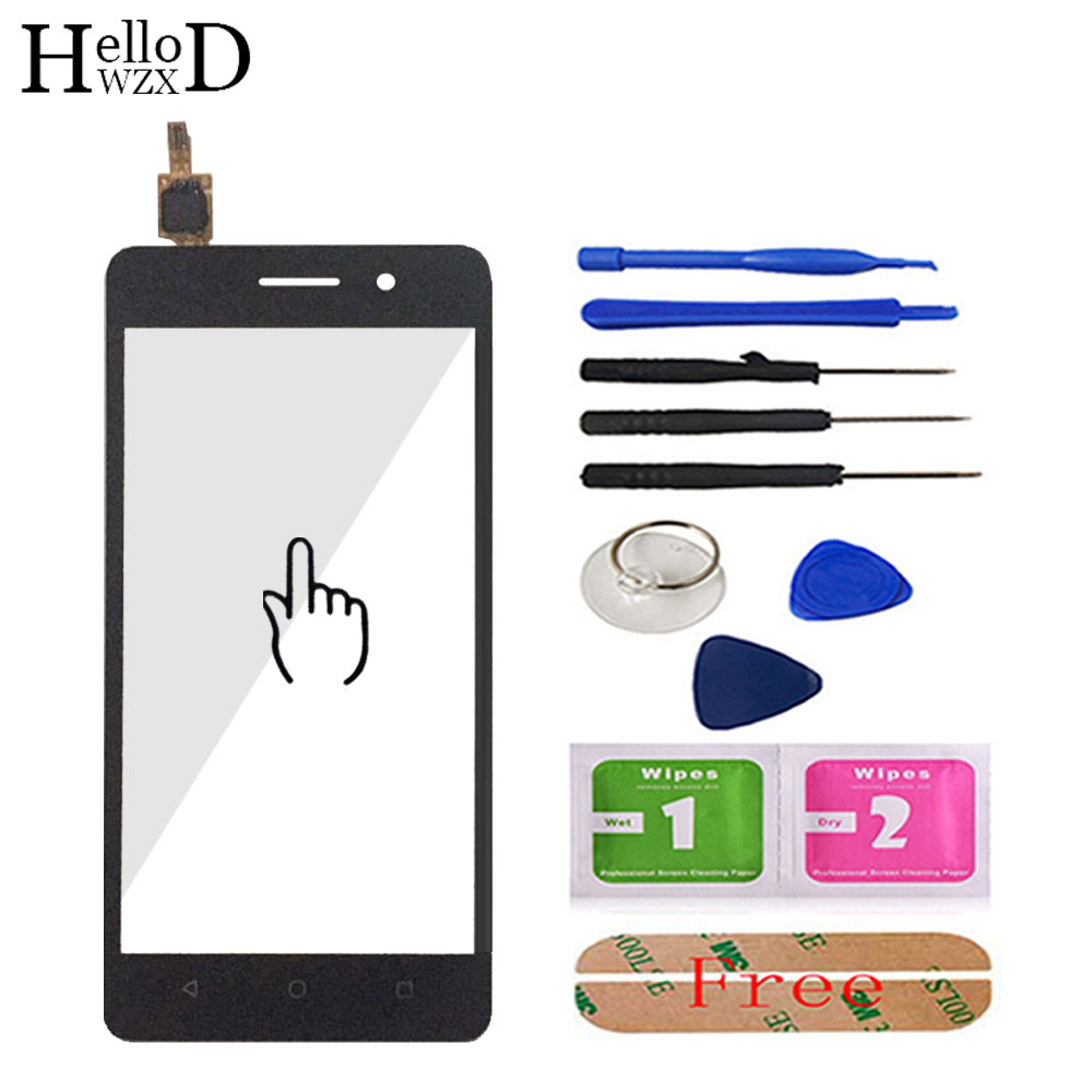 HelloWZXD Front Touch Glass For Huawei G Play Mini CHC-U01 CHC-U003 Honor 4C Touch Screen Digitizer Panel Lens Sensor + Adhesive