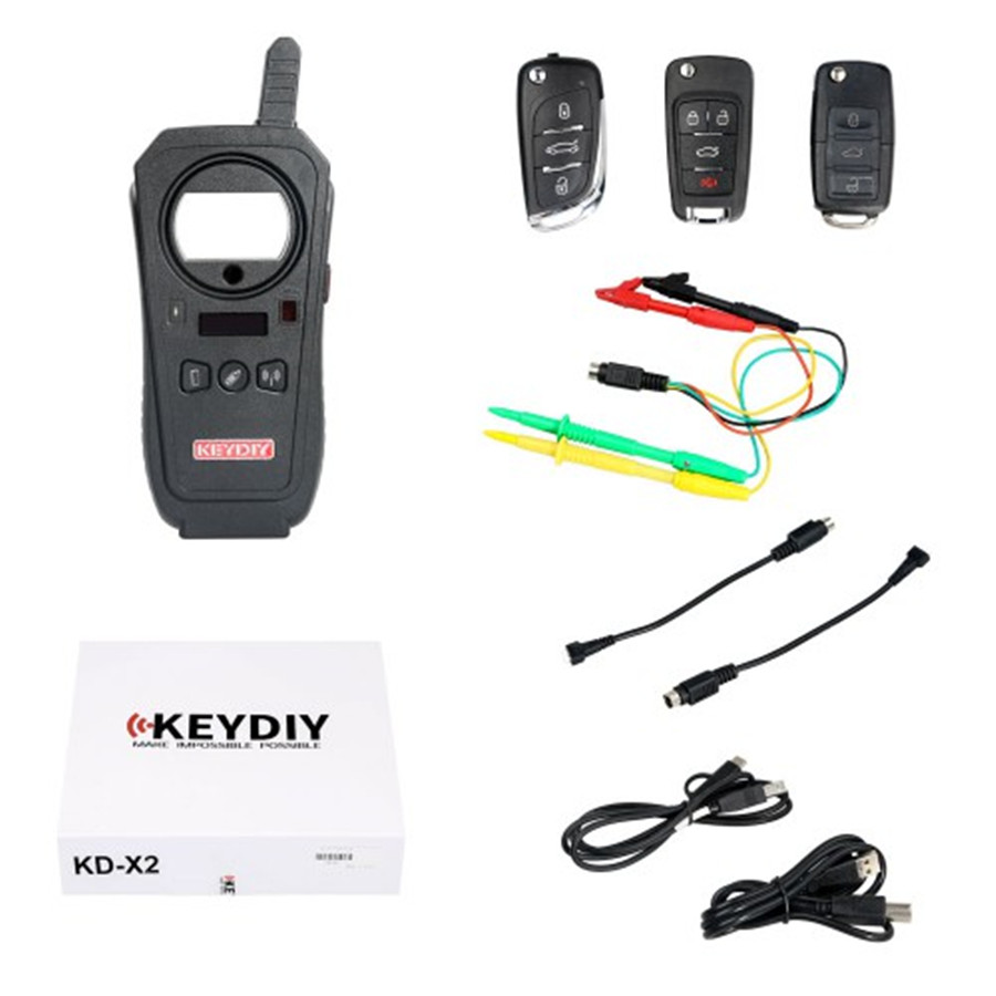 KD X2 KEYDIY KD-X2 Remote Maker Unlocker And Generator-Transponder Cloning Device With Free 96 Bits 48 Transponder Copy