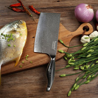 SUNNECKO Профессиональный 7 дюймов Кливер Ножи Дамаск японский VG10 Сталь кухонные ножи, лезвия Pakka деревянной ручкой Мясник Ножи