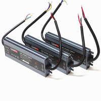 Tira de LED de fuente de alimentación 110 V 220 V a 12 V LED conductor IP67 impermeable Ultra delgado transformador de luz LED 60 W 100 W 120 W 150 W 200 W