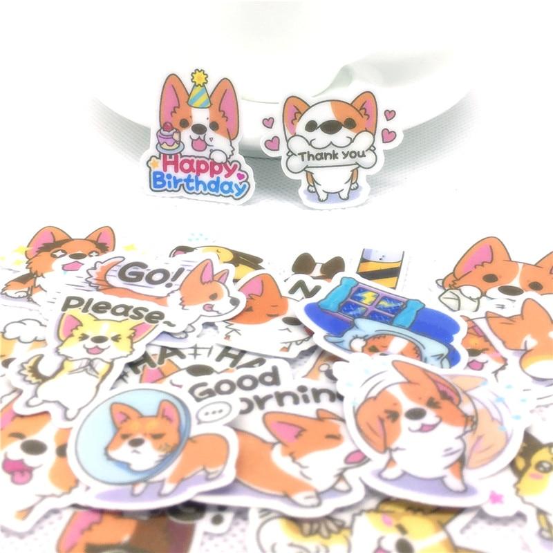36 pièces Meng Anime Cochin Chien Autocollant pour enfants jouets livre téléphone Bagages Décor À La Maison De Mode Autocollants En Vinyle autocollants faciles à poser scrapbooking