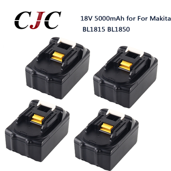 4PCS New Replacement 5000mah 18V 5.0 Ah Lithium Power tools battery For Makita 18V BL1840 BL1850 LXT400 194230-4 BL1815 BL1830