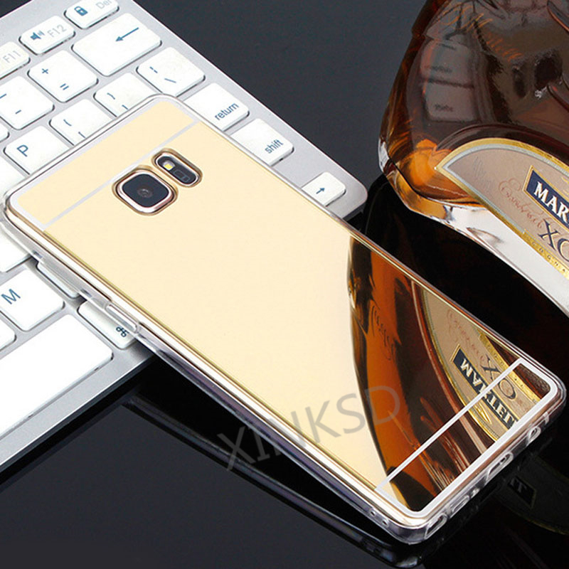 Original Brand Fashion Mirror TPU Cases for Samsung Galaxy J5 J7 J3 2017 J1 A3 A5 A7 2016 Prime S7 S6 edge S3 S4 S5 Case Slim