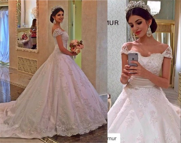 A Line Wedding Dress: Vestido De Festa Longo Princess Appliques Cap Sleeves A
