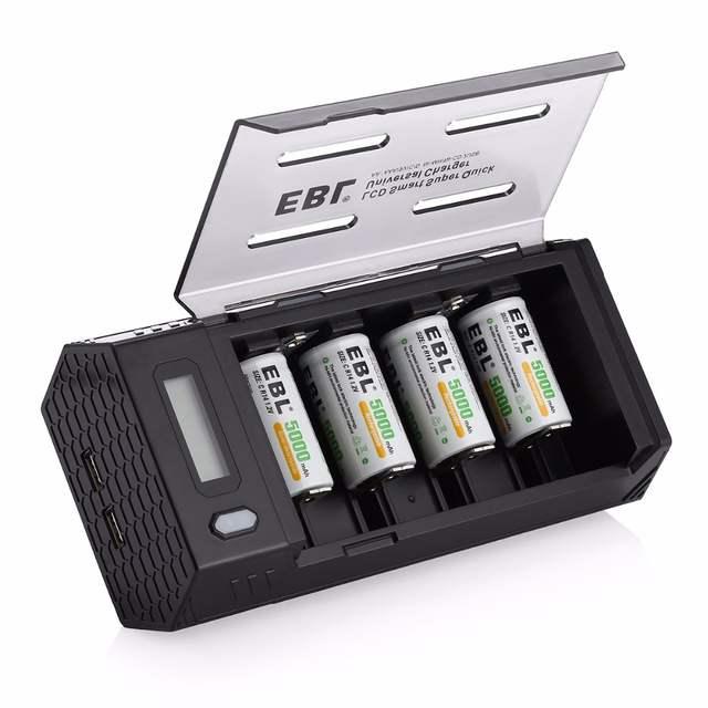 online shop ebl 4pcs lot 5000mah rechargeable batteries battery