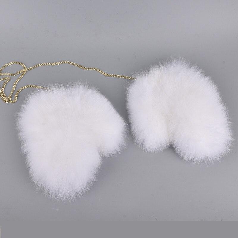Перчатки из лисьего меха новые женские роскошные перчатки из натурального меха для отличного твердого цвета с ремешком русские Guantes