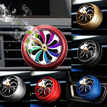 Mini Car air freshener LED smell conditioning Ventilation outlet Perfume Clip fresh aromatherapy fragrance Auto alloy accessorie