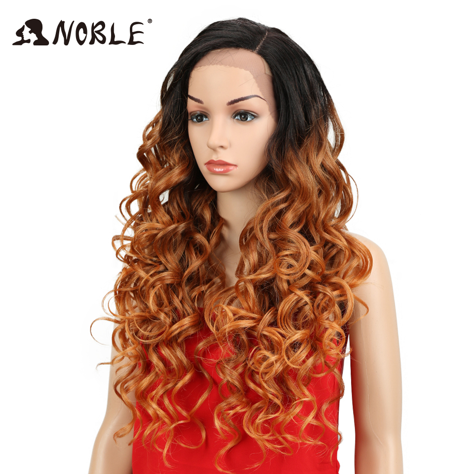 Noble Hair Loose Wave Lace Front Wig Lång 26