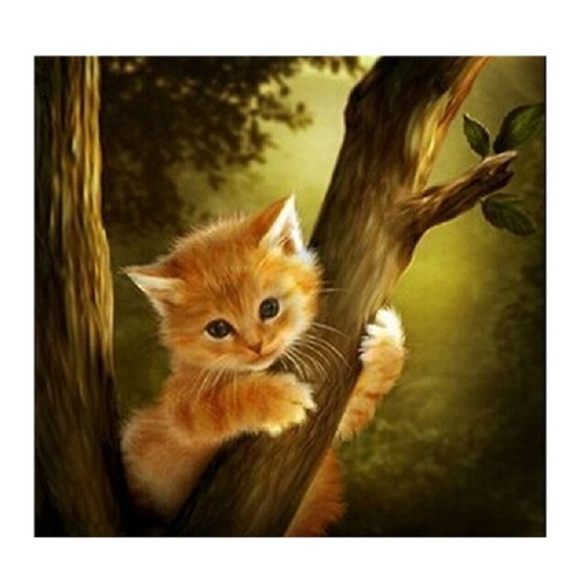 3d Diy Kitten Diamond Embroidery Cute Cat Diamond Painting