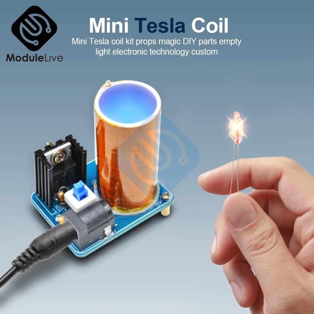 BD243 BD243C Mini Tesla Coil Kit Magic Props DIY Parts Empty Lights Technology Diy Kits Electronics Module Board