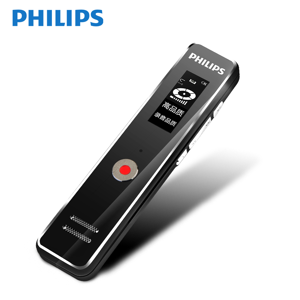 Philips Original 8 GB stylo enregistreur vocal numérique deux Microphone intégré de haute qualité enregistrement instantané à commande vocale VTR5100