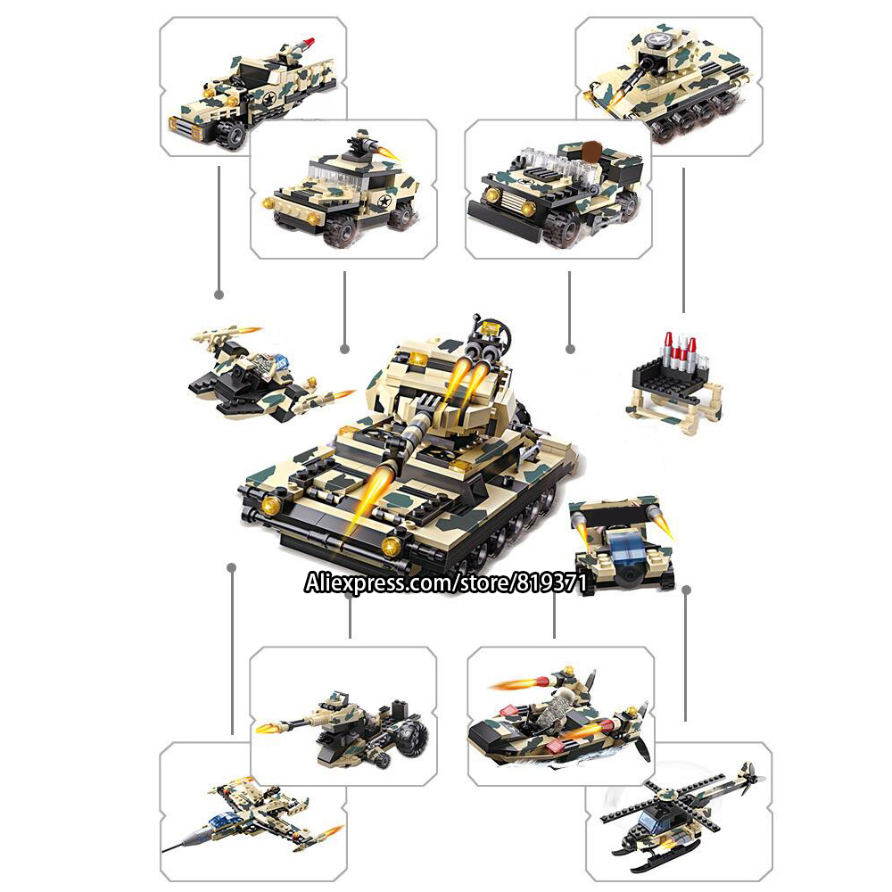 12 in 1 Army Warships Tank Aircraft Helicopter Military Bricks Building Blocks Toys For Kids Compatible with legoeINGlys 13019 aircraft carrier ship military army model building blocks compatible with legoelie playmobil educational toys for children b0388
