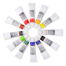 -Kit Glass Paint Stain Artists Set for Adults Beginners Kids Professionals 12-Ml 12-Count