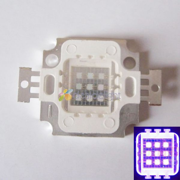 Freeshipping Epiled 45Mil 10W Ultra-Violet/UV/Purple 420NM-<font><b>430NM</b></font> High Power Multichip Intergrated <font><b>Led</b></font> Lamp Light Emitter image