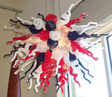 Free Shipping Home Decorative Party Lights Hand Blown Art Glass Chandelier