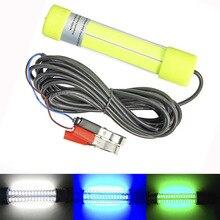 10 W 20 W 12 24 V DC COB balıkçı ışığı Çeken Sualtı Balık Işık Gece Balıkçılık Lures ile 6 M Kablo