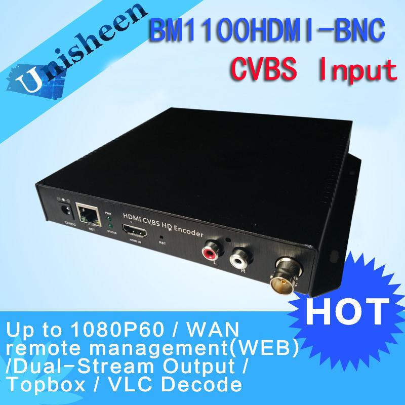 Prix pour MPEG-4 AVC H.264 HDMI Encodeur Vidéo CVBS BNC codeur HDMI Émetteur Diffusion en direct encodeur encodeur H264