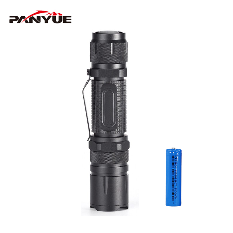 PANYUE LED Tactical Flashlight Led Torch Waterproof Light with 18650 Rechargeable battery