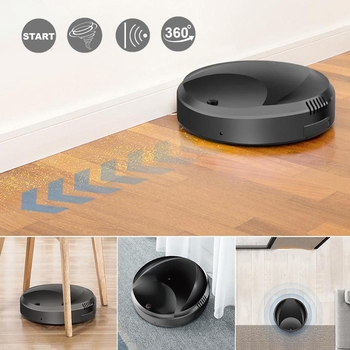 Automatic Robot Vacuum Cleaner Strong Suction Dry Sweeping Floor Dust Collector USB Rechargeable Smart Robot Home Cleaning Tools