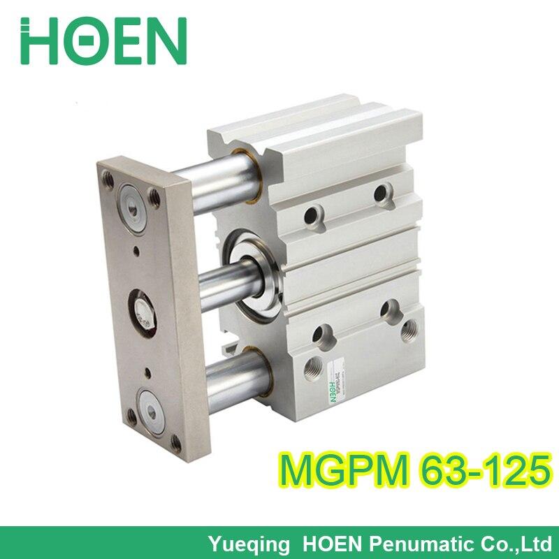 Mgpm63 125 63 мм Диаметр 125 мм Ход Компактный пневматический цилиндр MGPM с направляющей штока цилиндра
