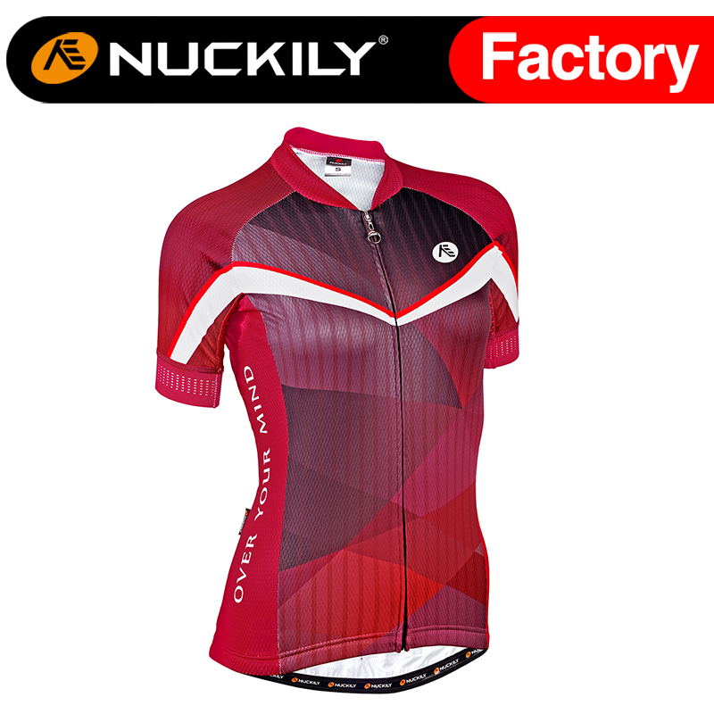 ФОТО Nuckily Summer women's  Elegance Design Cycling Wear SS Jersey with 3 rear pocket and reflective piping on top GA012