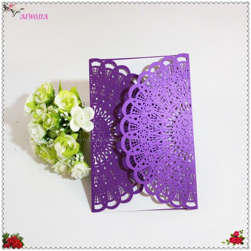 30pcs / Lot Beautiful Beautiful Girl Birthday Gift Wedding Invitation Card  Adult Ceremony Celebration Blessing Card