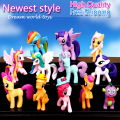 12pcs/set My Rainbow Dash pvc horses action figures toys poni cartoon Twilight sparkle horses for girl birthday christmas gift