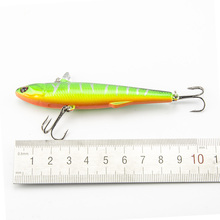 1pcs   Winter Fishing Hard Bait VIB With Lead Inside Ice Sea 14.5g 9cm Fishing Tackle Diving Swivel Jig Wobbler Lure
