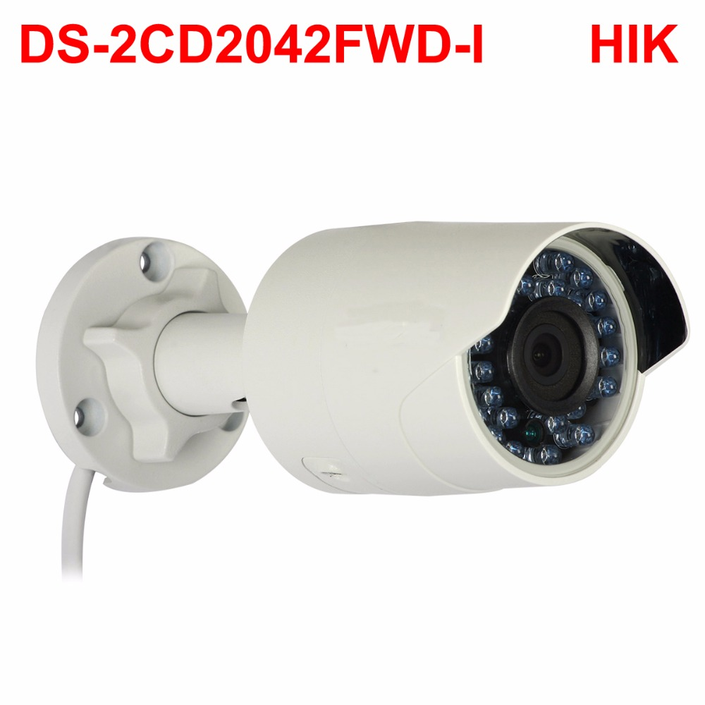 4MP DS-2CD2042WD-I cctv video surveillance security PoE WDR  IP Camera for hikvision dahua DVR NV RHIK-Connect iVM4200 Camcorder 8mp ip camera cctv video surveillance security poe ds 2cd2085fwd is audio for hikvision dahua dvr hik connect ivm4200 camcorder