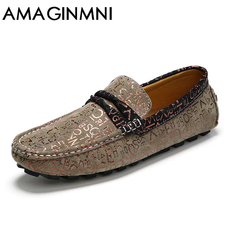 AMAGINMNI Handmade Genuine Leather Men Flats  Fashion Soft Leather Men Shoes Loafers men Moccasins zapatos hombre zapatillas hombre 2017 fashion comfortable soft loafers genuine leather shoes men flats breathable casual footwear 2533408w